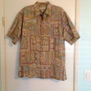 Tori Richard authentic Hawaiian Paisley shirt